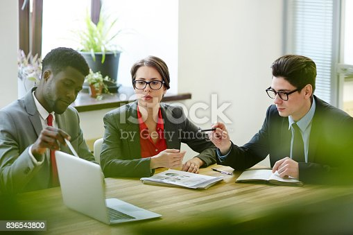 istock Presentation of financial project 836543800