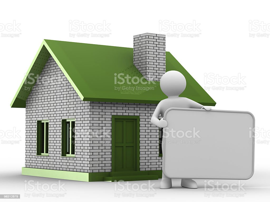 Presentation of new house. Isolated 3D image royalty-free stock photo