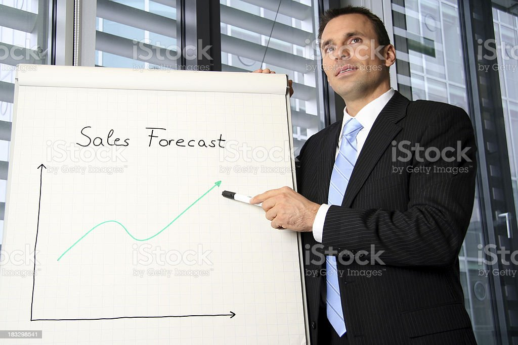 Presentation of sales forecast royalty-free stock photo
