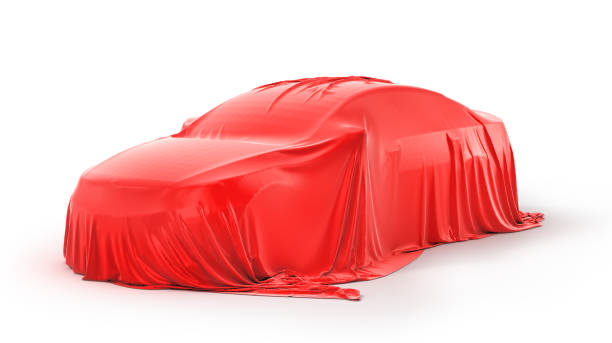 Presentation of the car stock photo