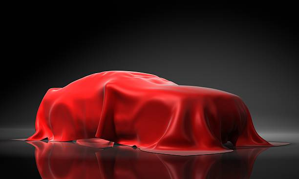 Presentation of the new car stock photo