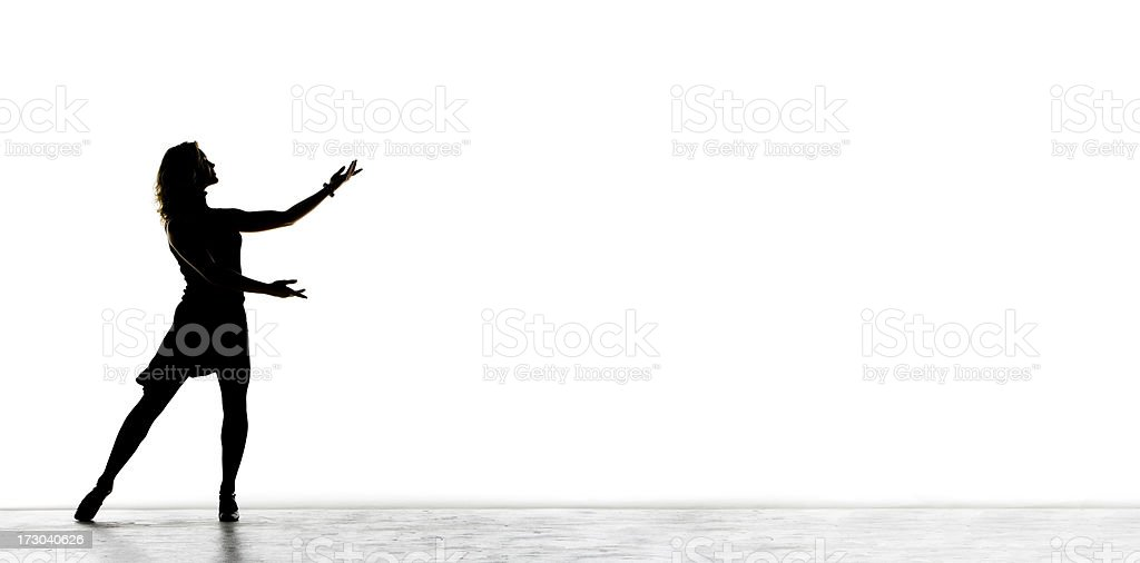 Presentation On A White background stock photo