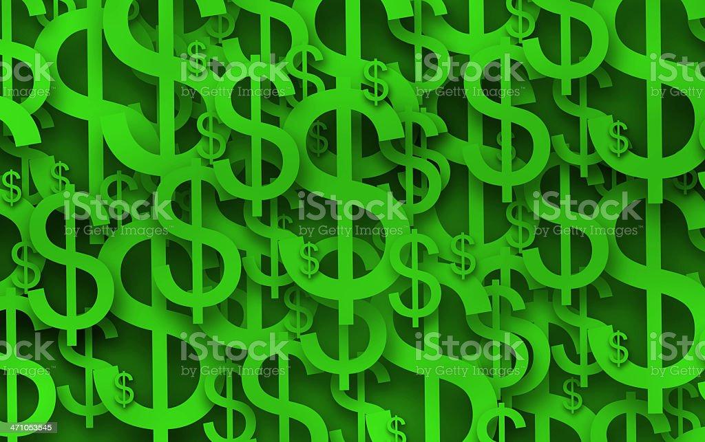 Presentation Parts: Green Money stock photo