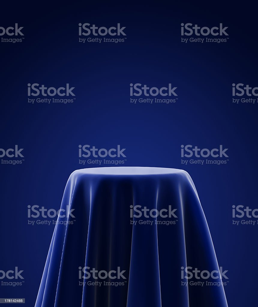 presentation pedestal stock photo