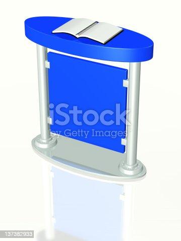 istock Presentation podium 137382933