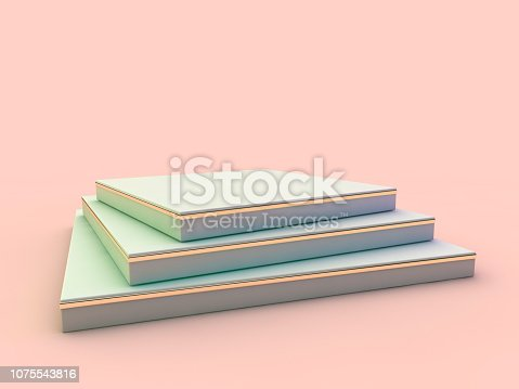 istock Presentation room with empty podium. 3D 1075543816