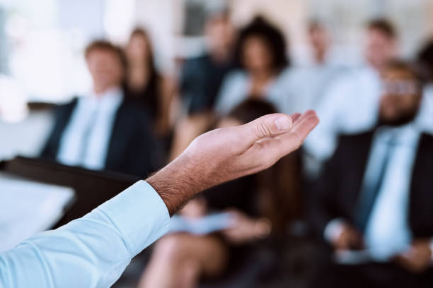 Presentation skills that are polished and professional stock photo