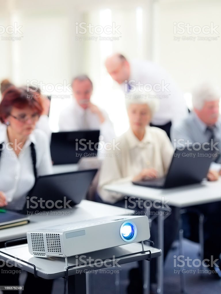 Presentation with lcd projector royalty-free stock photo