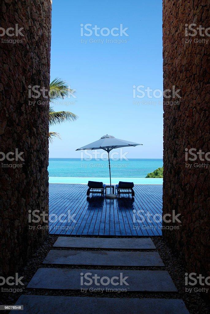 L'attuale architettura resort foto stock royalty-free