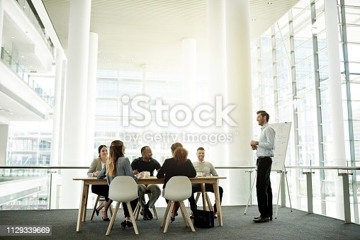 Full length shot of a handsome mature businessman giving a presentation in the boardroom