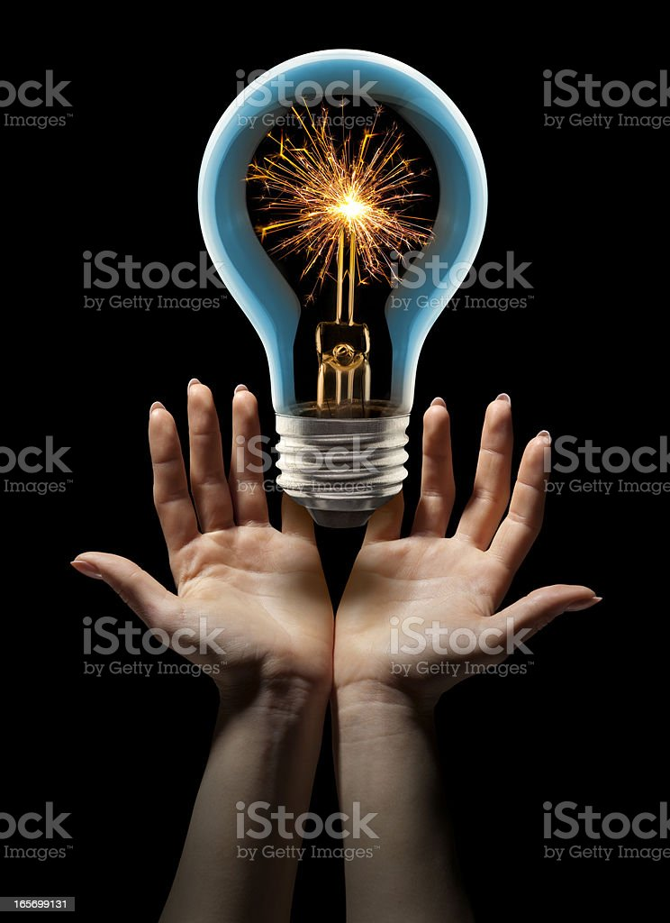 Presenting an Amazing, Sizzling Hot New Idea royalty-free stock photo