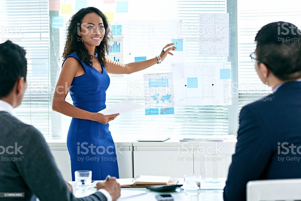 Presentación de negocios ideas - foto de stock