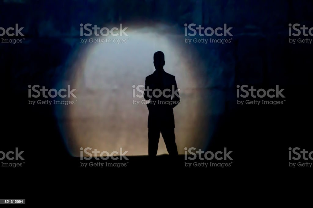 presenting man stock photo