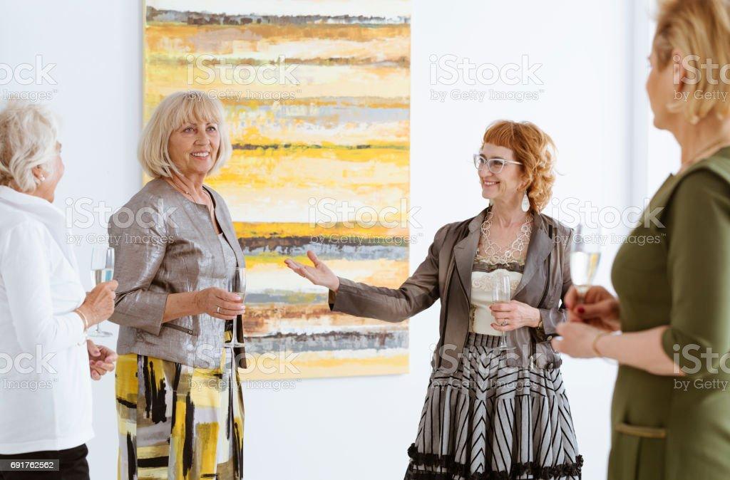 Presenting the artist stock photo