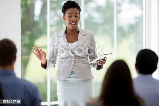 istock Presenting to Coworkers 576901748