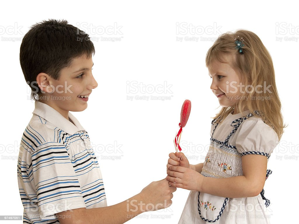 Presenting valentine royalty-free stock photo