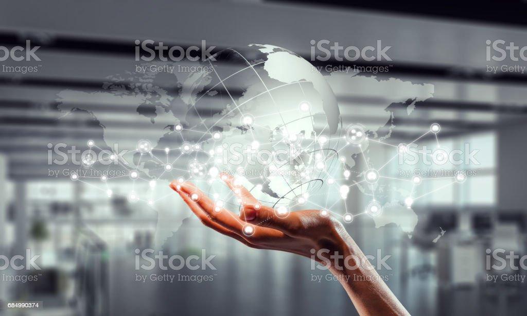 Presenting wireless technologies. Mixed media Lizenzfreies stock-foto