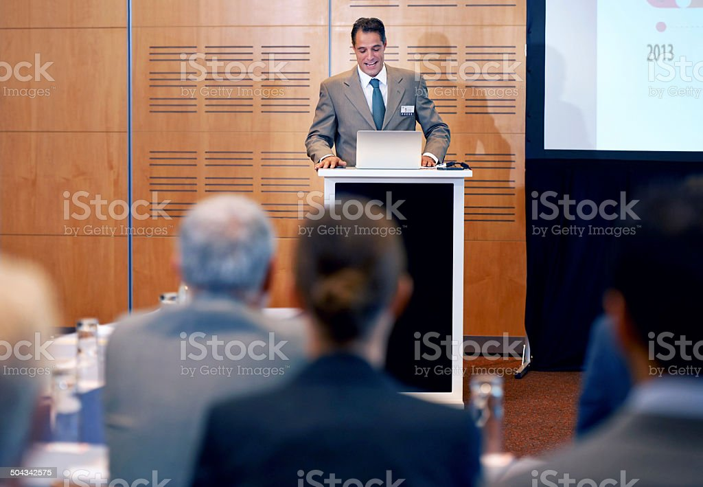 Presenting with ease stock photo