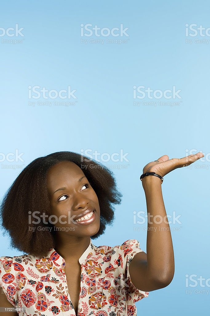 Presenting your message... royalty-free stock photo