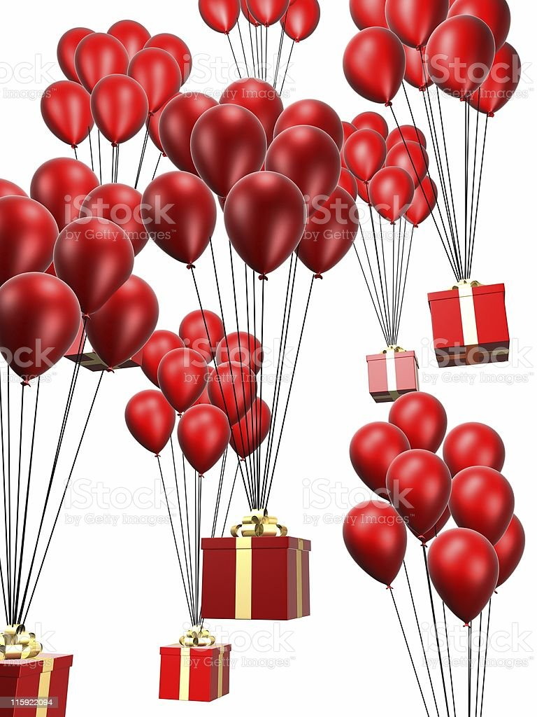 presents and balloons royalty-free stock photo
