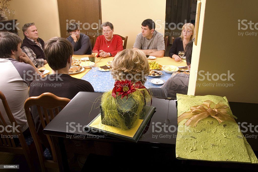 Presents and Group Of People royalty-free stock photo
