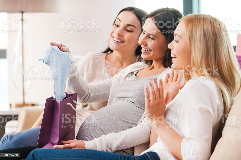 Presents for young mother. stock photo