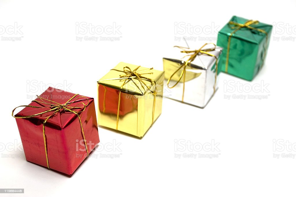 Presents in line royalty-free stock photo