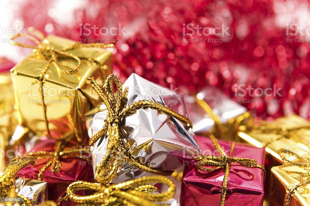 Presents under Christmas tree royalty-free stock photo