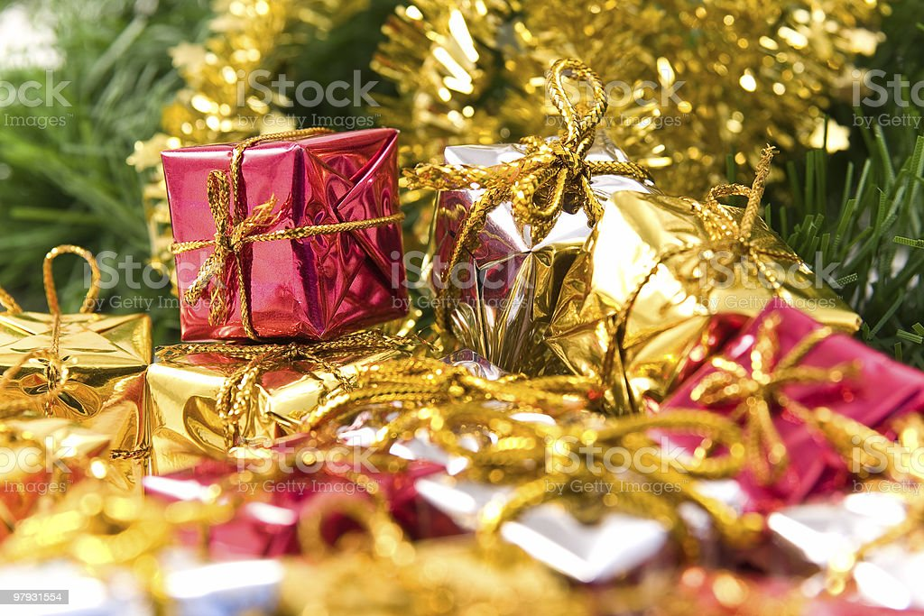 Presents under Christmas tree royalty-free stock photo