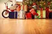 istock Presents Under the Christmas Tree 184621537