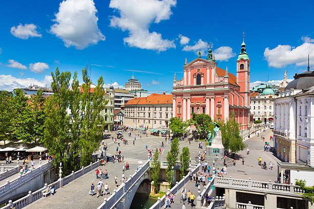 Preseren-Platz, Ljubljana (Slowenien, der Hauptstadt. – Foto