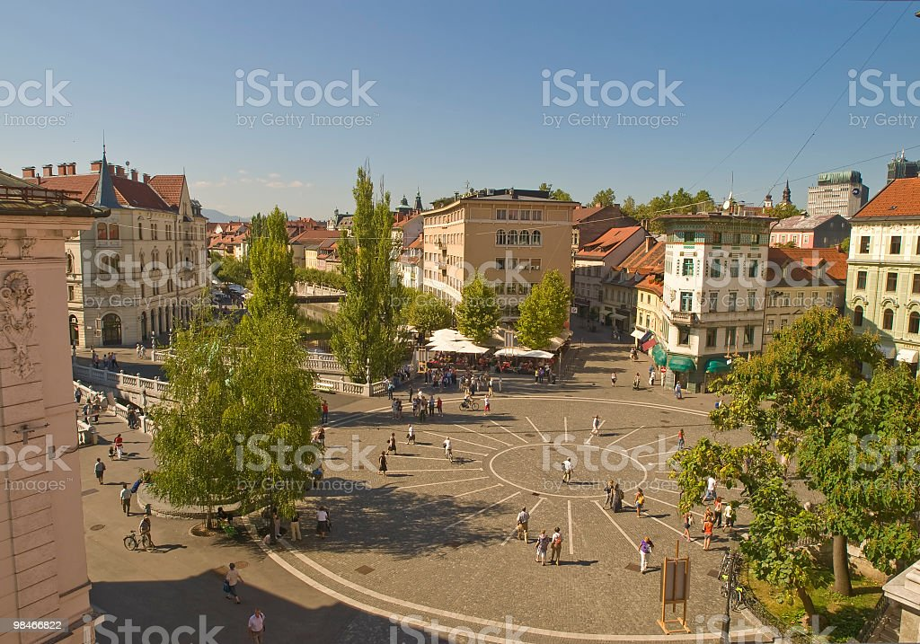 Presernov trg - Ljubljana royalty-free stock photo