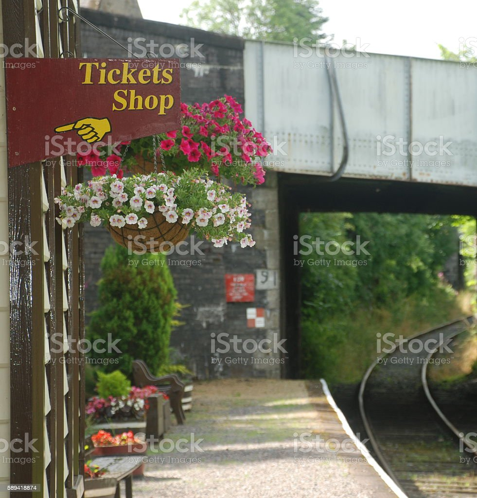 Preserved Historical Railway Station stock photo