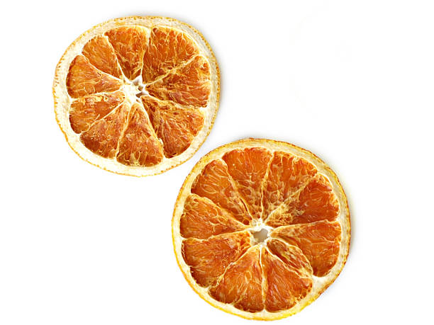 preserved orange slices - dode plant stockfoto's en -beelden