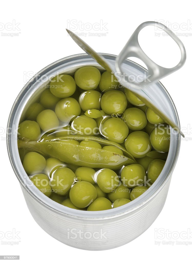 Preserved peas royalty-free stock photo