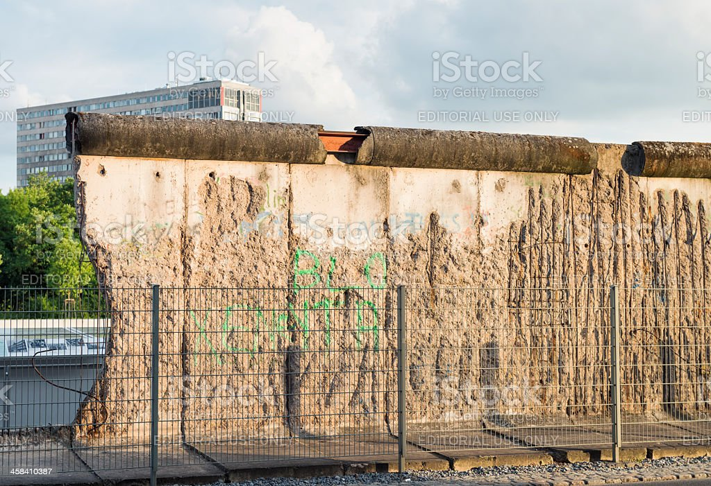 Preserved Section of the Berlin Wall stock photo