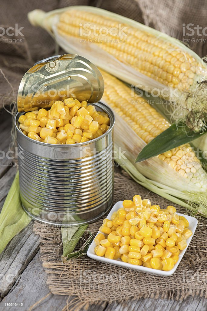 Preserved Sweetcorn royalty-free stock photo