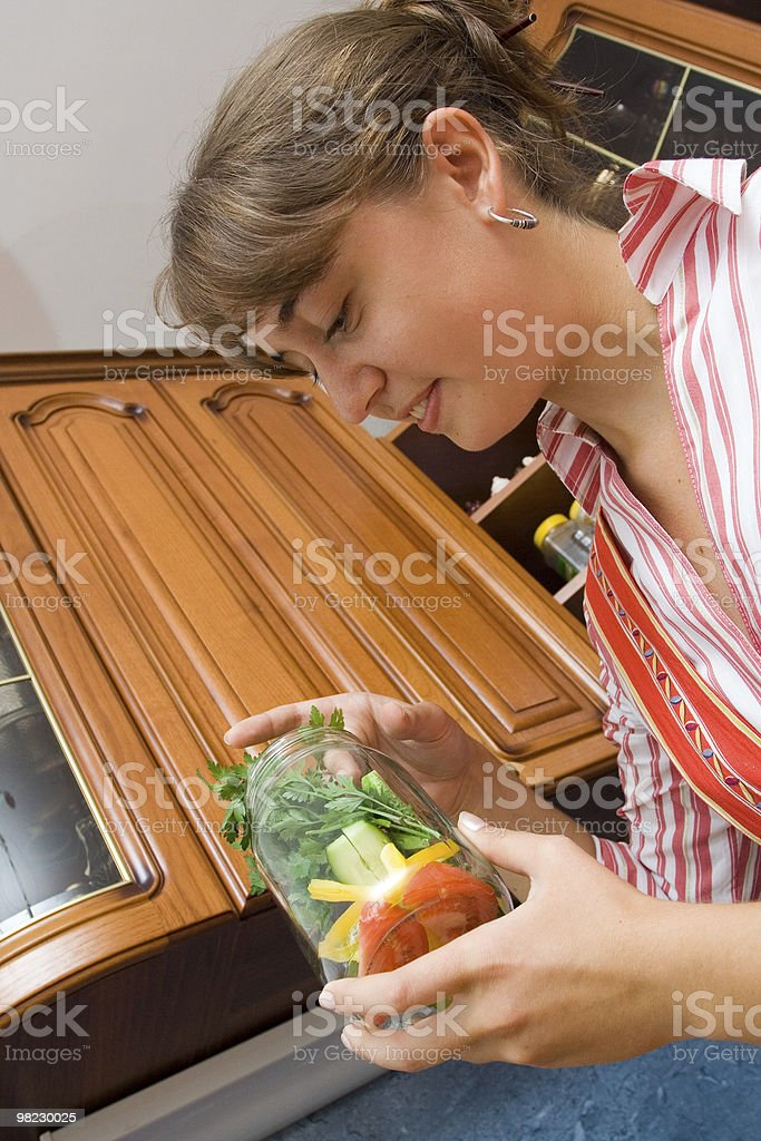 Preserving a vegetables royalty-free stock photo