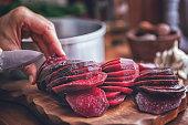 Preserving Organic Red Beet in Jars