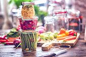 Preserving Organic Vegetables in Jars