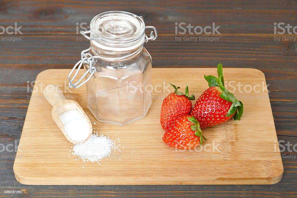 La preservación de fresas foto de stock libre de derechos