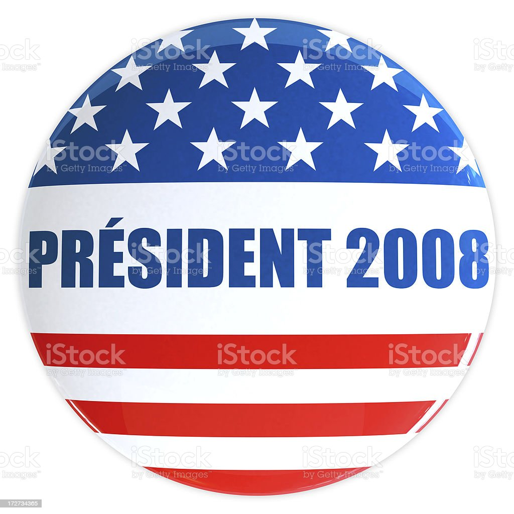 President 2008 Button stock photo