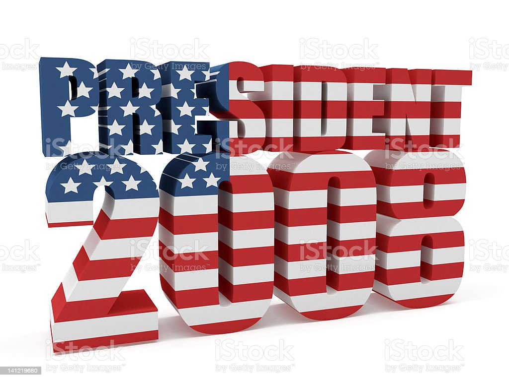 3D USA President 2008 stock photo