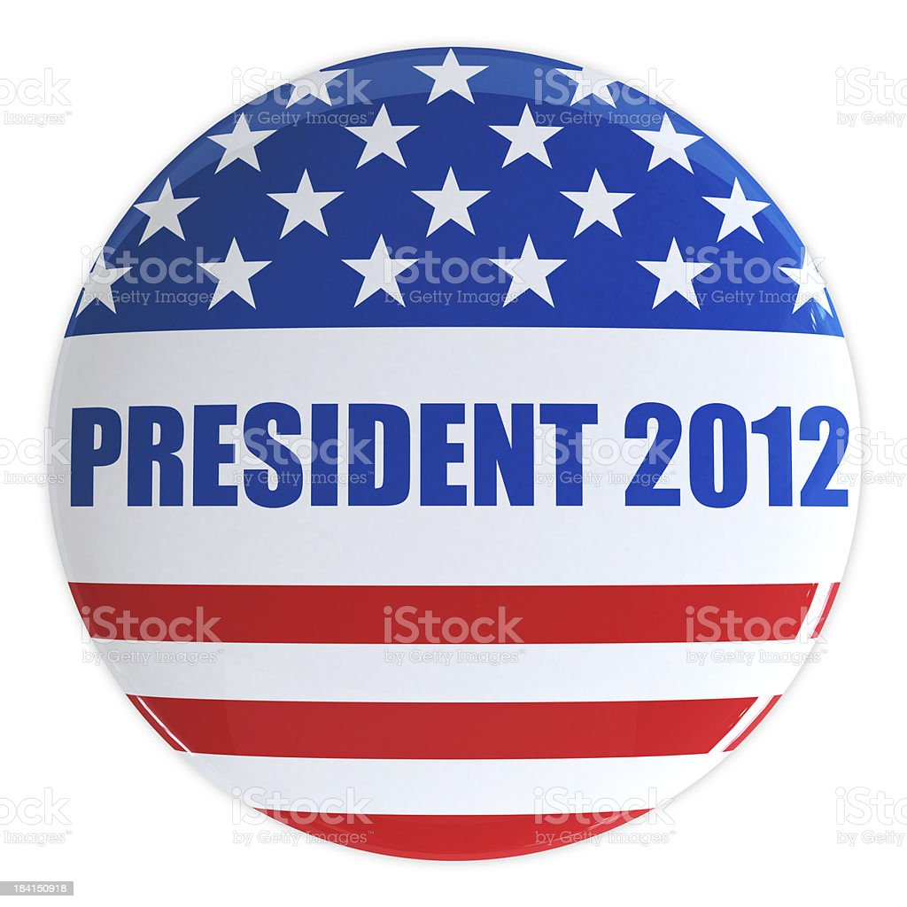 President 2012 Button royalty-free stock photo