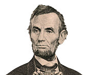 istock President Abraham Lincoln portrait (Clipping path) 537039235