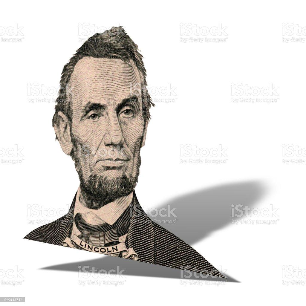 President Abraham Lincoln portrait stock photo
