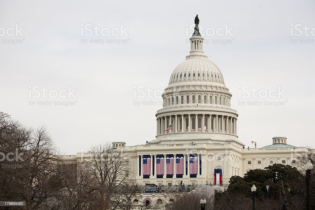 President Barack Obama's Inauguration, Washington DC Capitol Building stock photo