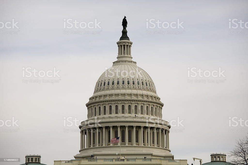 President Barack Obama's Inauguration, Washington DC Capitol Building royalty-free stock photo