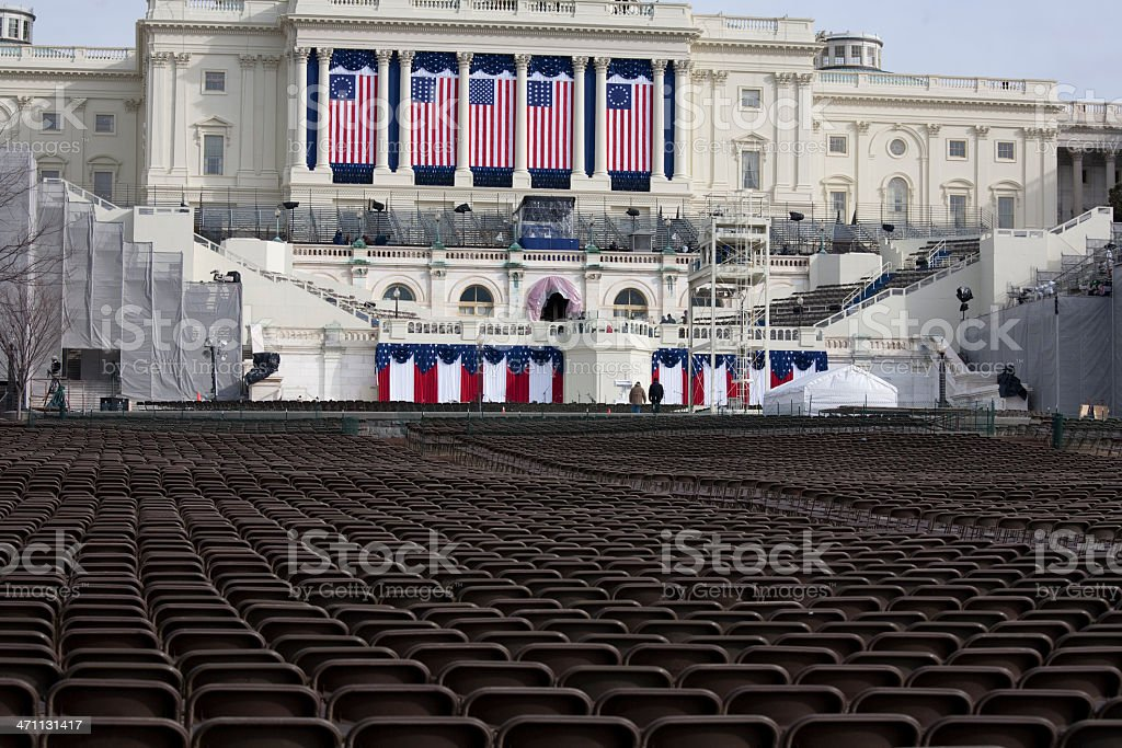 President Barack Obama's Inauguration, Washington DC Capitol Building stock photo