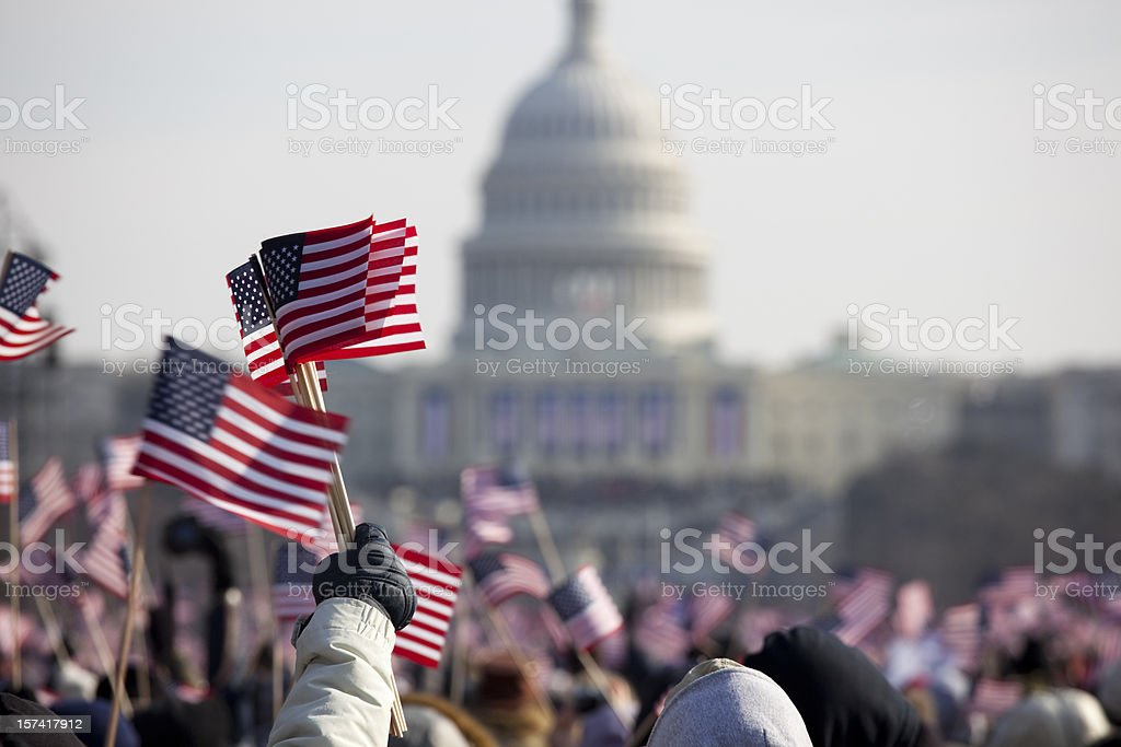 President Barack Obama's Presidential Inauguration at Capitol Building, Washington DC royalty-free stock photo